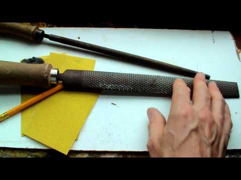 LaZouche Custom airsoft how to make wood grips Pt 1