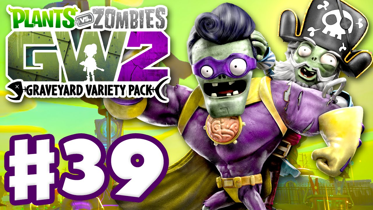 Plants Vs Zombies Garden Warfare 2 Gameplay Part 39 Graveyard Variety Pack Aqua Center