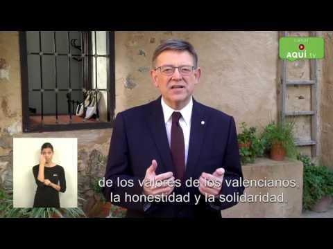 VÍDEO MENSAJE DE FIN DE AÑO DEL PRESIDENT DE LA GENERALITAT VALENCIANA, XIMO PUIG