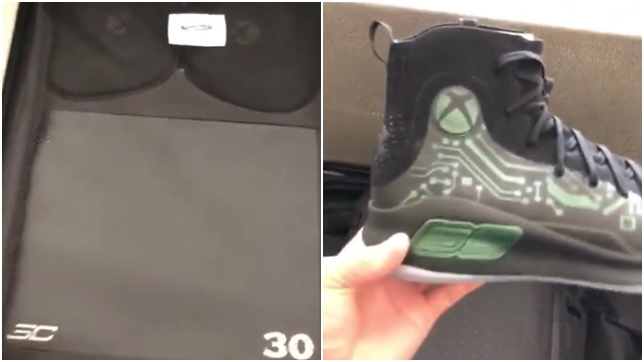 76a0fa848a3 Stephen Curry Received XBOX   Pair of Shoe SC30 From Xbox - YouTube
