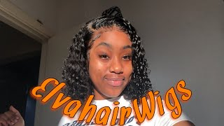 HAIR REVIEW | 13x6 Preplucked Curly wig ft ElvaHairWigs