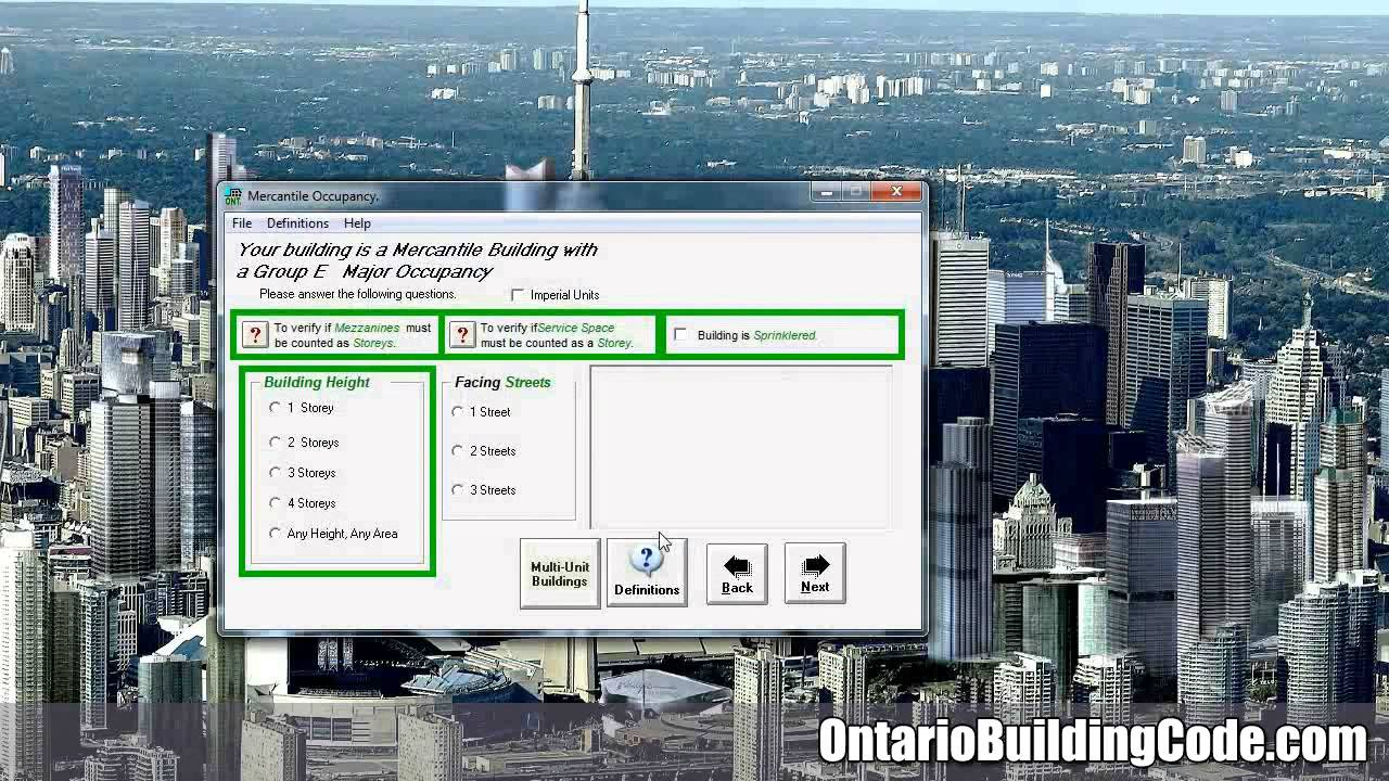 Ontario Building Code Building Classifications YouTube