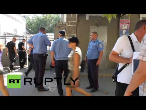 Ukraine: Privatbank branch shattered in Melitopol explosion