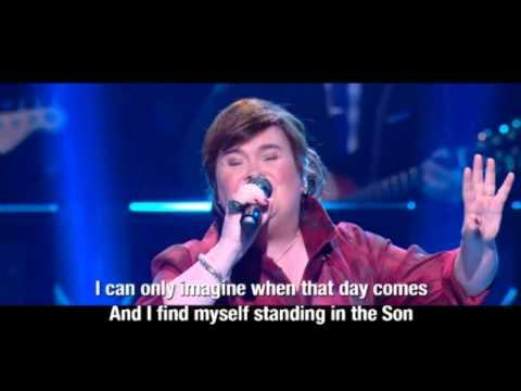 "2nd Show: Susan Boyle (Lyrics) ~ ""I Can Only Imagine"" Joel Osteen (19 Oct 14)"