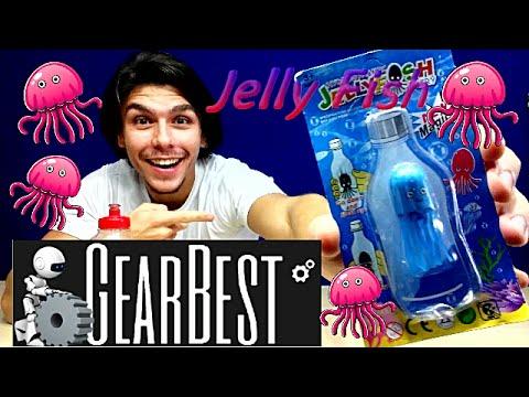 Água viva de estimação! Recebido Gearbest Jellyfish Peter Toys