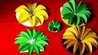 Как украсить подарок своими руками, цветы из бумаги(Как украсить подарок, цветы из бумаги - красивые цветы на коробку торт и прочее. Смотрите видео пишите отзыв..., 2015-03-01T16:54:31.000Z)
