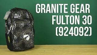 Розпакування Granite Gear Fulton 30 Circolo/Black 924092