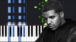 Drake In My Feelings Piano Tutorial Chords How To Play Cover