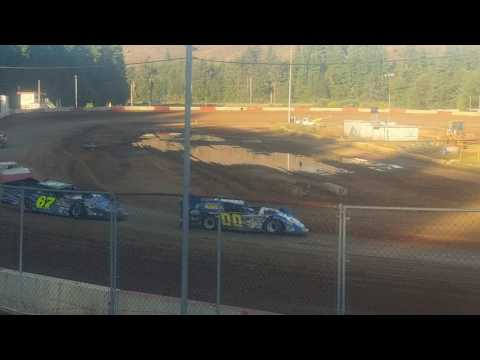 6-17-17 late model heat race coos bay speedway