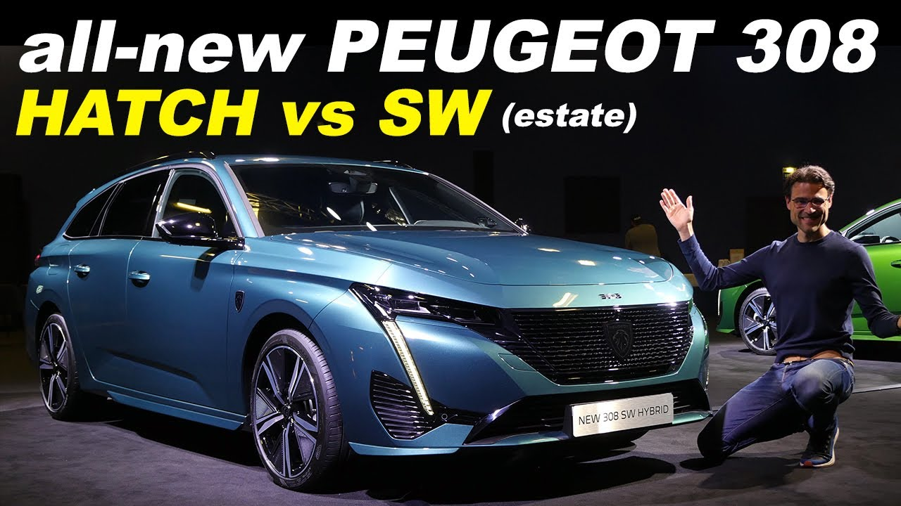 Download all-new Peugeot 308 hatch & estate comparison REVIEW 2021 driving 308 SW vs Seat Leon ST