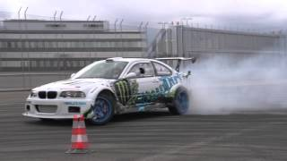 Olle Olsson drifting before his first race
