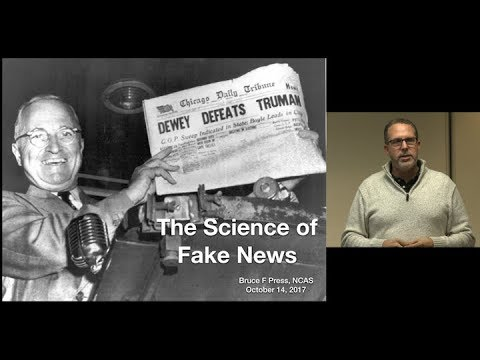 The Science of Fake News (Bruce Press)
