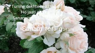 Gambar cover Sanam teri kasam -lyric palak muchhal , ankit tiwari