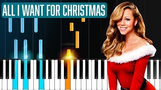 """Mariah Carey - """"All I Want For Christmas Is You"""" Piano Tutorial - Chords - How To Play - Cover"""
