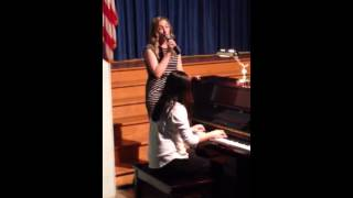 "Miss Boyko singing ""All of Me"" accompanied by Sabrina Yip"