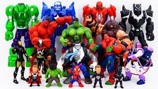 Power Rangers & Marvel Avengers Toys Pretend Play | Hulk & Spider Hulk vs Juggernaut Villains Army