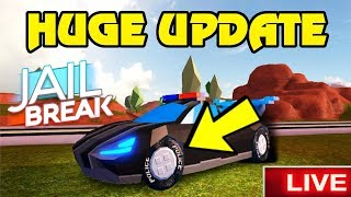 🔴 Roblox Jailbreak NEW UPDATE JUST RELEASED! | NEW RACE CAR TIRES/RIMS | BIGGEST BUG FIX UPDATE YET