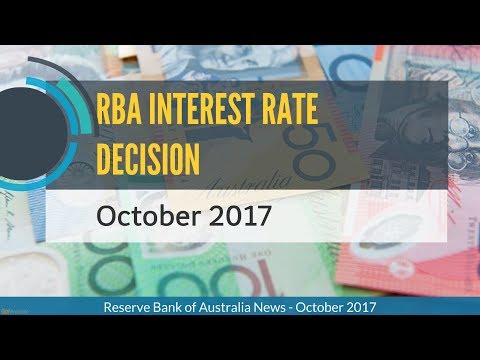 RBA INTEREST RATE DECISION (OCTOBER 2017)