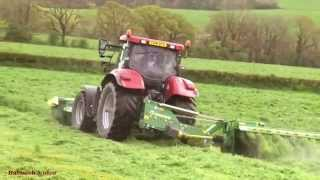 Mowing for Silage with Two Case Tractors.