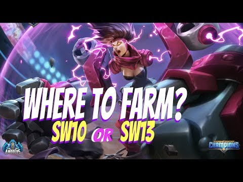Dungeon Hunter Champions:  Where To Farm? | SW10 Or SW13