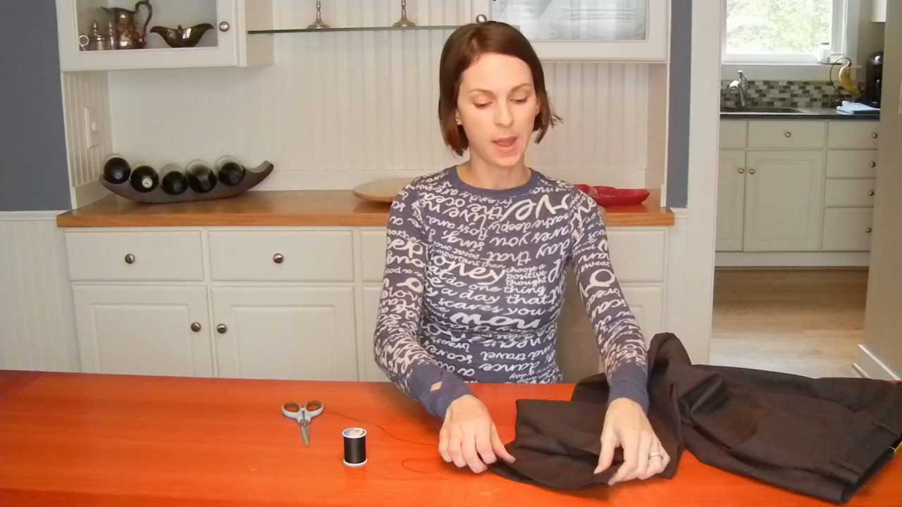 how to hem by hand or using no sew tape youtube. Black Bedroom Furniture Sets. Home Design Ideas