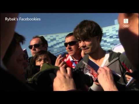 Alexander Rybak - Working as Russian translator - Senkveld Sochi 13.02.2014