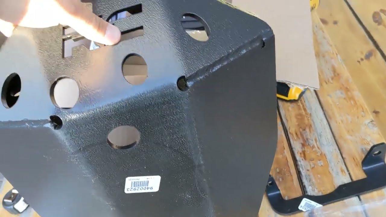 Dana 44 rear diff skid plate JT sport Gladiator install RC m220