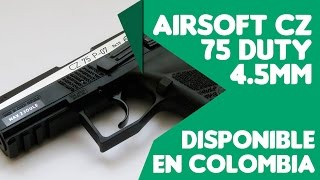 Pistola de AIRSOFT CZ 75 DUTY 4.5mm Disponible en Colmbia