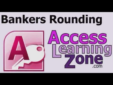 Microsoft Access Bankers Rounding