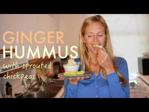 Recipe: How to make Creamy Ginger Hummus with (sprouted) chickpeas