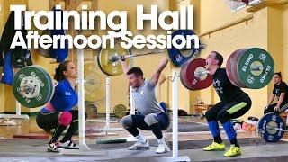 2015 European Junior & U23 Weightlifting Training Hall Afternoon Session 02.10