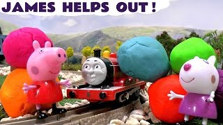 Peppa Pig Thomas and Friends Play Doh Surprises Dressing Up Game Pepa Thomas Y Sus Amigos