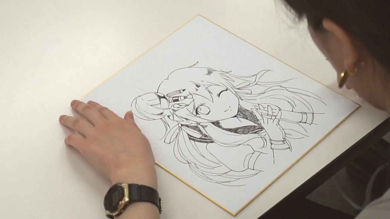 イラストレーター中野さん色紙メイキング Jam日本アニメ マンガ専門学校マンガ イラストマスター科 Youtube