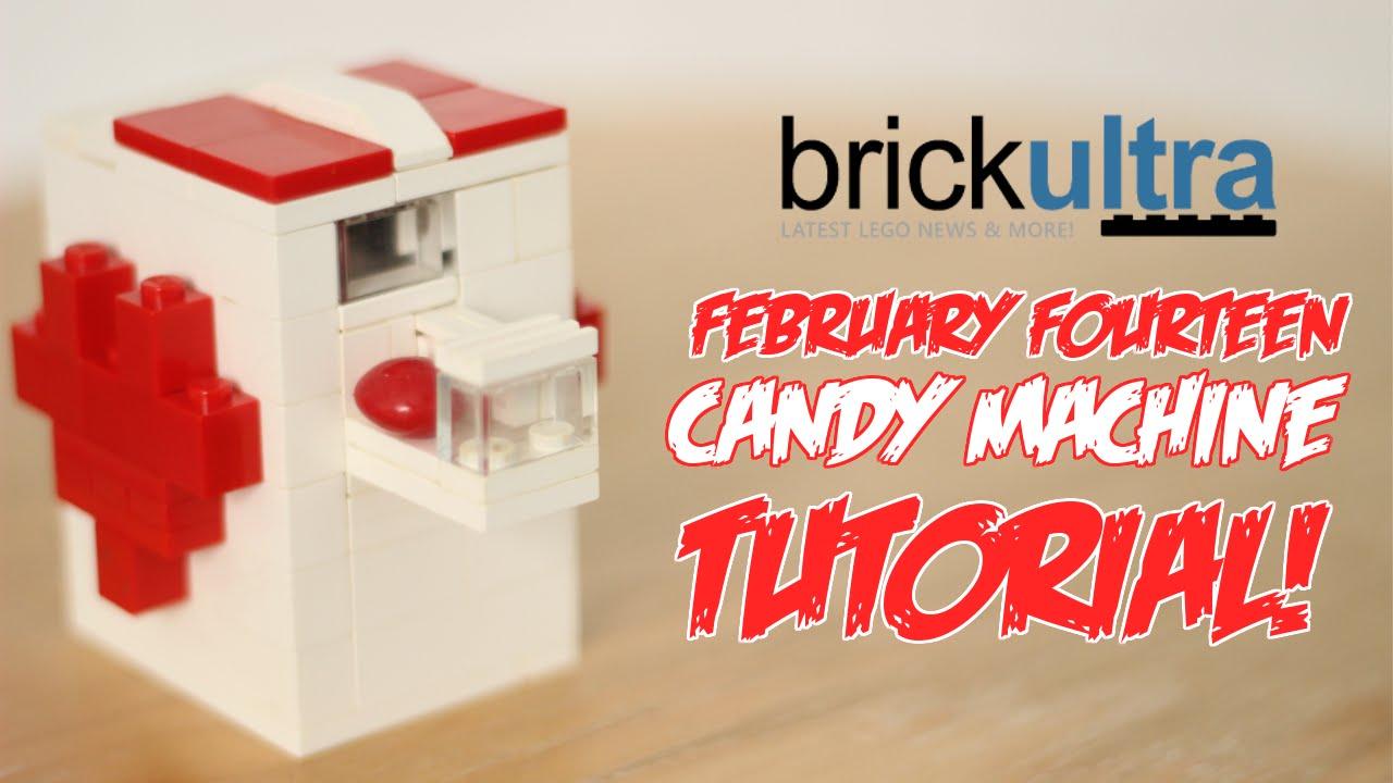 February Fourteen Lego Candy Machine Instructions Tutorial Youtube