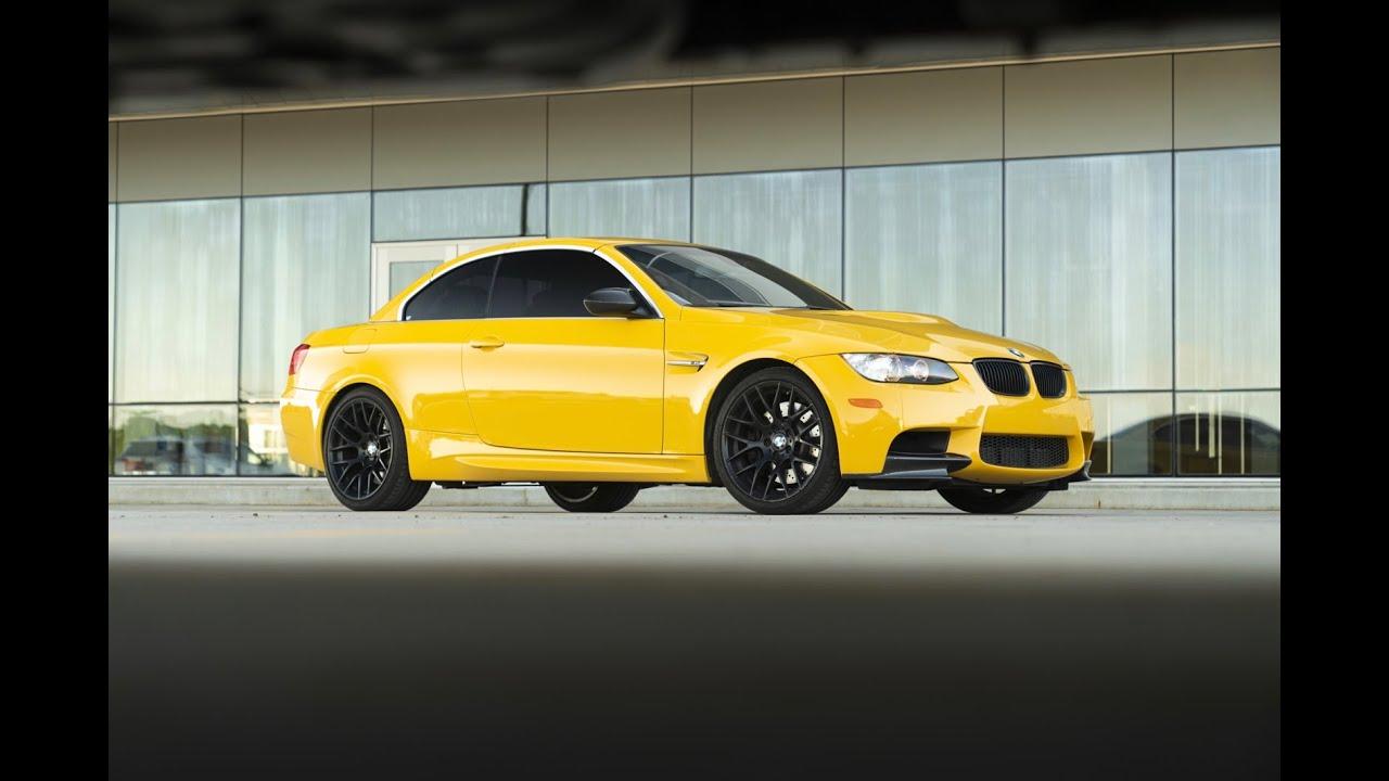 2012 Bmw M3 Convertible Speed Yellow Youtube