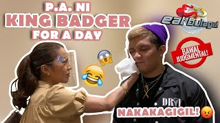 KING BADGER'S P.A AND DRIVER FOR A DAY (EAT BULAGA)   JELAI ANDRES