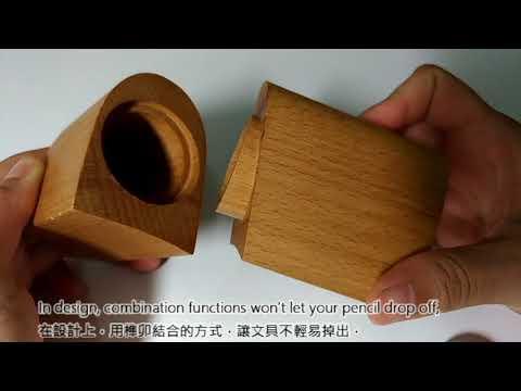 Beech Wood Pen Holder