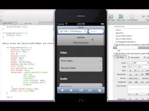 Web App Development 6 - Toggle Menu Button