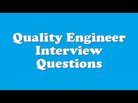 Quality Engineer Interview Questions YouTube