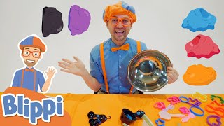 Blippi Plays with Clay! | Learn Shapes & Spelling For Kids | Educational Videos for Toddlers