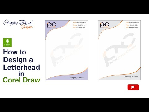 Corel draw tutorial how to design a letterhead youtube corel draw tutorial how to design a letterhead spiritdancerdesigns Images