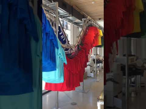 System 700 Garment Storage Conveyors | Railex Conveyor Corp