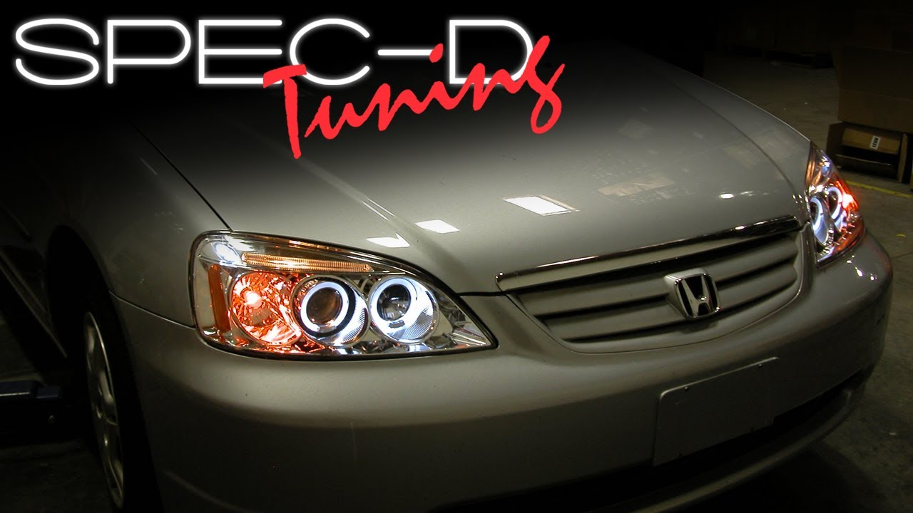 2003 Honda Accord Lx >> SPECDTUNING INSTALLATION VIDEO: 2001-2003 HONDA CIVIC HEAD ...