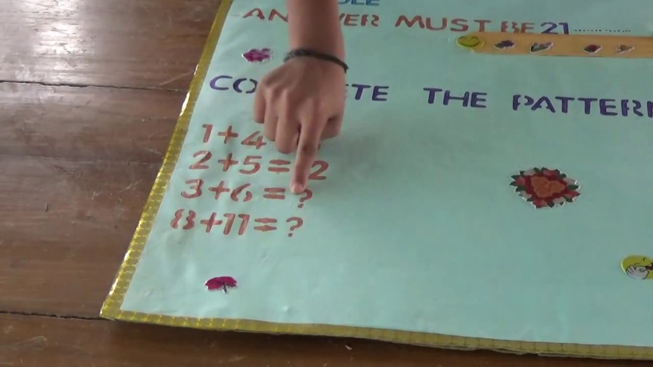 Complete the pattern | Maths Project | - YouTube