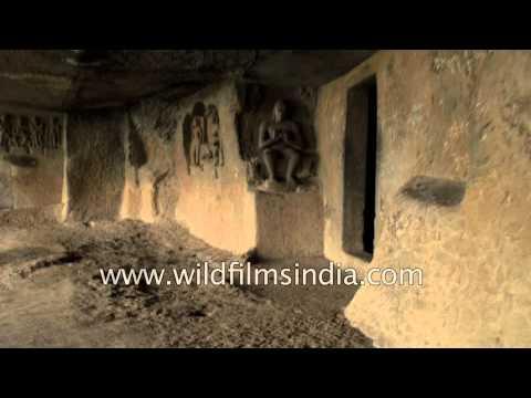 Tourist visit the Pandavleni Caves - Nashik