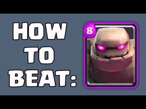 Clash Royale HOW TO BEAT / COUNTER GOLEM | ANTI-GOLEM CARDS / DECK STRATEGY AND GAMEPLAY