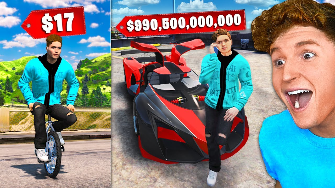 CHEAPEST vs. MOST EXPENSIVE CARS In GTA 5 RP.. (Mods)