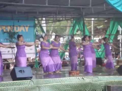 南太平洋大学。University of the South Pacific, Open day 10/Aug/2012. Performance by Samoan