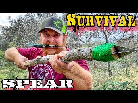 Survival Spears & Hunting Rabbits / Day 17 of 30 Day Survival Challenge Texas