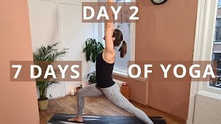 Standing Poses | Create Your Home Yoga Practice Routine // Day 2 of Seven Days of Yoga